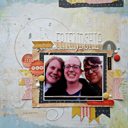 Friendship Scrapbook Layout (via shezigzags.blogspot.com)