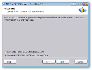 NTFS to FAT32 Converter Pro Edition 1.5 width=