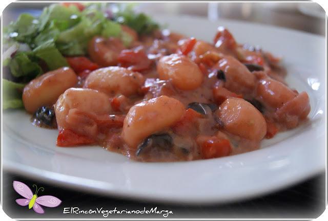 Gnochis con salsa de nueces