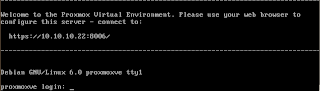 Login ke Proxmox 2.3