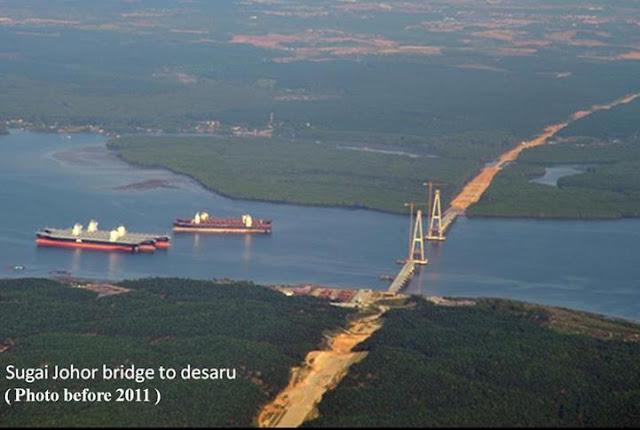 Bridge to desaru from johor kong kong