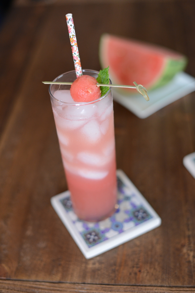 recipe for a watermelon mint cocktail via M Loves M (with non-alcoholic version)