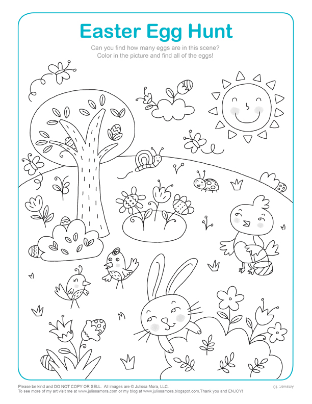 Easter Coloring Pages Kids Activities