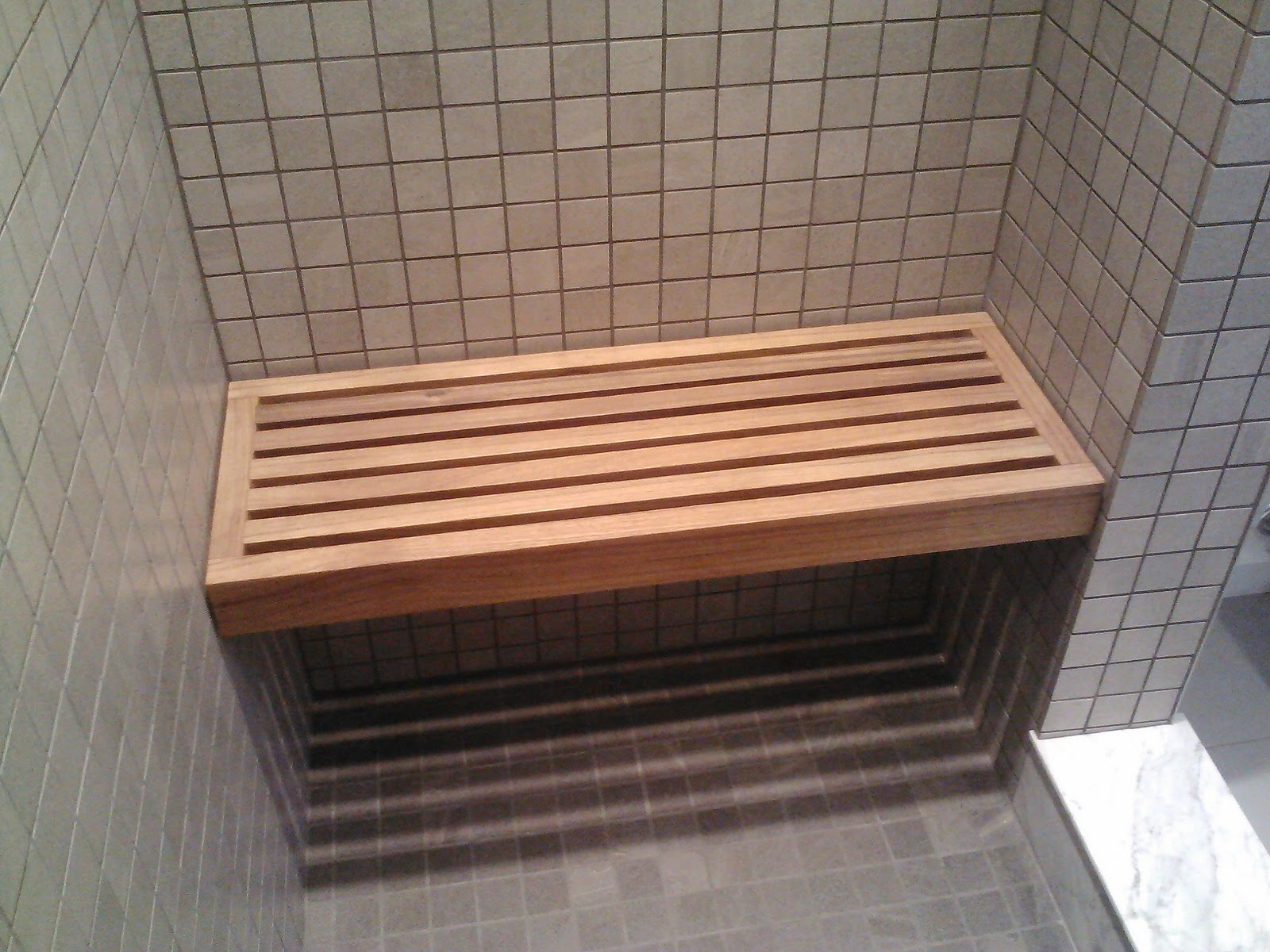 Built In Shower Bench