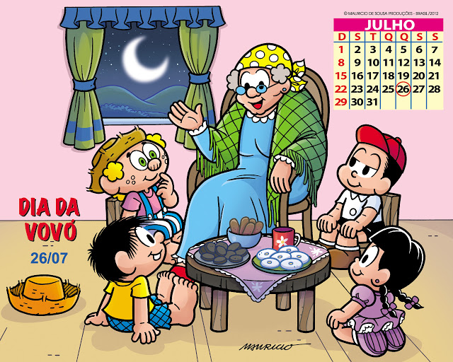 Painéis Dia da Vovó Turma da Mônica
