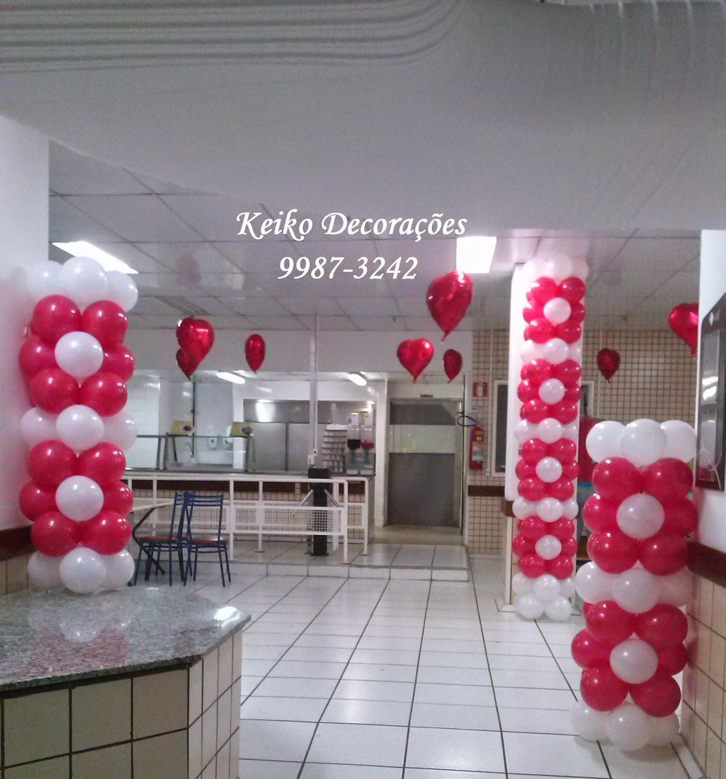 Keiko Decoraç u00e3o com Balões u2665 Dia das m u00e3es # Decoração Dia Das Mães Em Loja