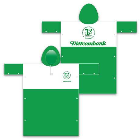 Áo mưa quà tặng khách hàng vietcombank