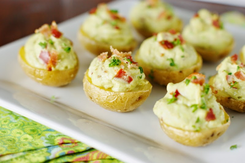 Creamy Bacon Guacamole Potato Bites