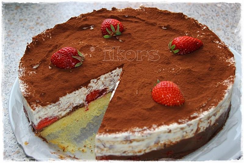Erdbeer schoko split torte thermomix