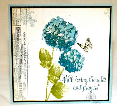 Stamps - Kitchen Sink Stamps 3 Step Hydrangea, Multi Step Lilacs, Words of Comfort & Joy