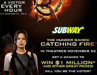 Subway Hunger Games Sweepstakes