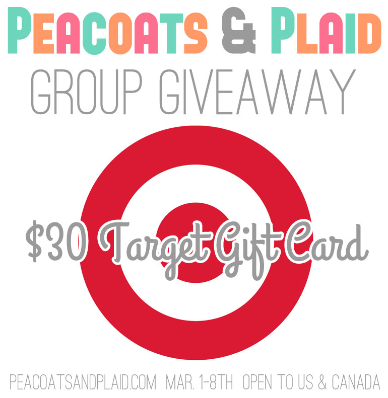 $30 Target Gift Card giveaway at Peacoats & Plaid