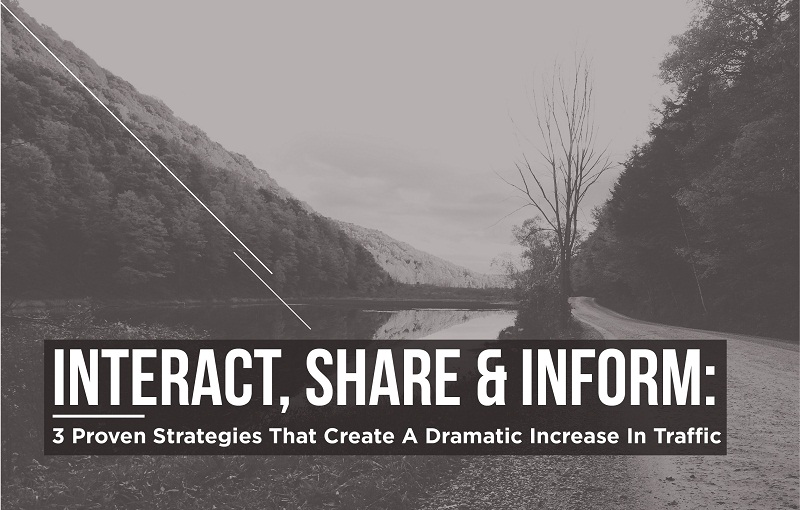 3 Proven Strategies That Create A Dramatic Increase In Traffic To Your Website - #infographic