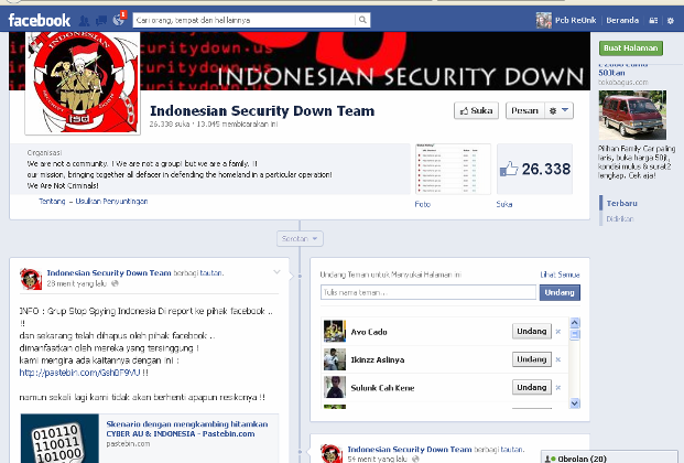 Indonesia Security Down Team