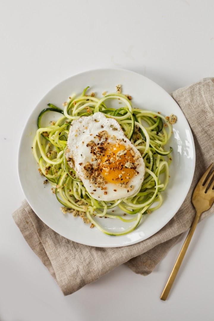 Calabacín y espagueti para bajar de peso
