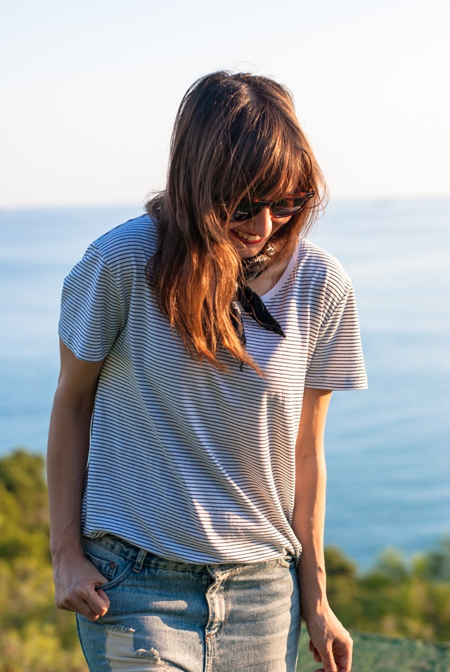 Stripes t-shirt look