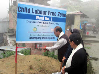 Kalimpong Municipality Vice Chairperson Zion Lepcha declare Child labor free ward