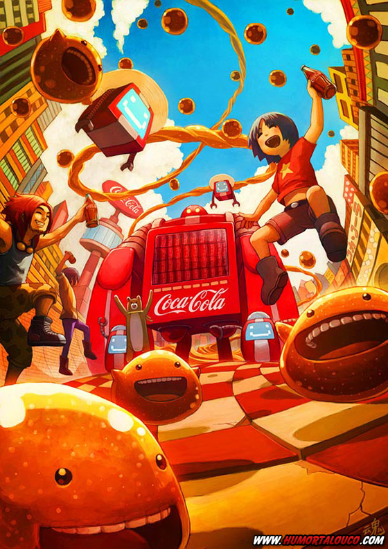 18 animações do mundo dos vídeos games e desenhos - Coca-Cola