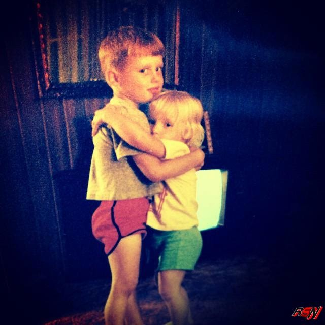 Rare Photo of Michelle McCool With Her Brother as a Toddler.
