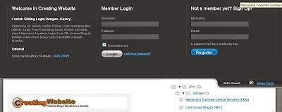 Cara Membuat Login-Register Form di Blogspot