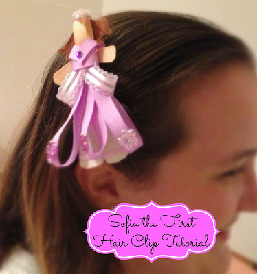 Disney Sofia the First Hair Clip Tutorial | APeekIntoMyParadise.com #girl #hair #barrette #Disney #tutorial #craft #handmade