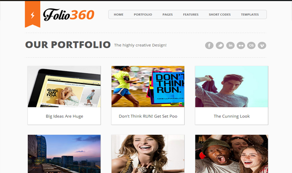 Folio 360 blogger template