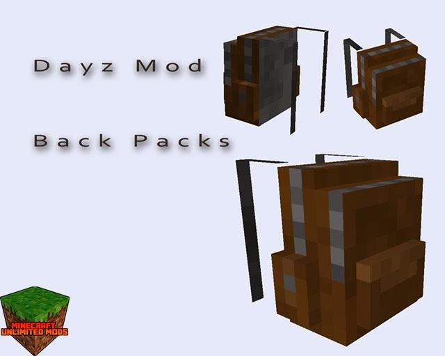 DayZ mod Minecraft mochila