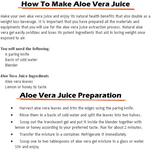 aloe vera gel for weight loss