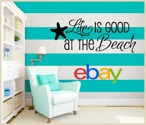 Beach Quotes and Wall Decals on Ebay
