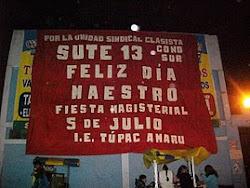 """SUTE 13 SECTOR CONO SUR """"Por la Unidad Sindical Clasista"""""""