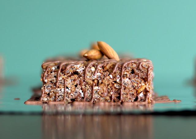 Healthy Mocha Almond Krispy Treats