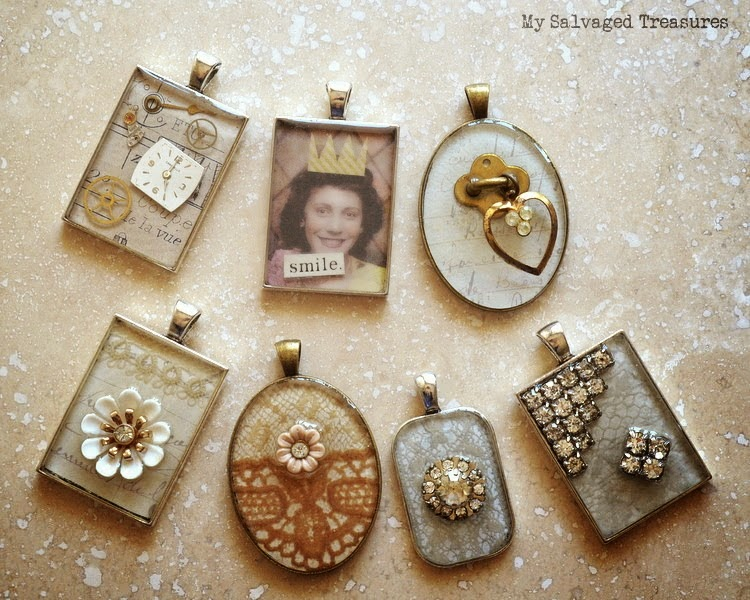 Make your own salvaged jewelry from anything! - My Salvaged Treasures featured on I Love That Junk