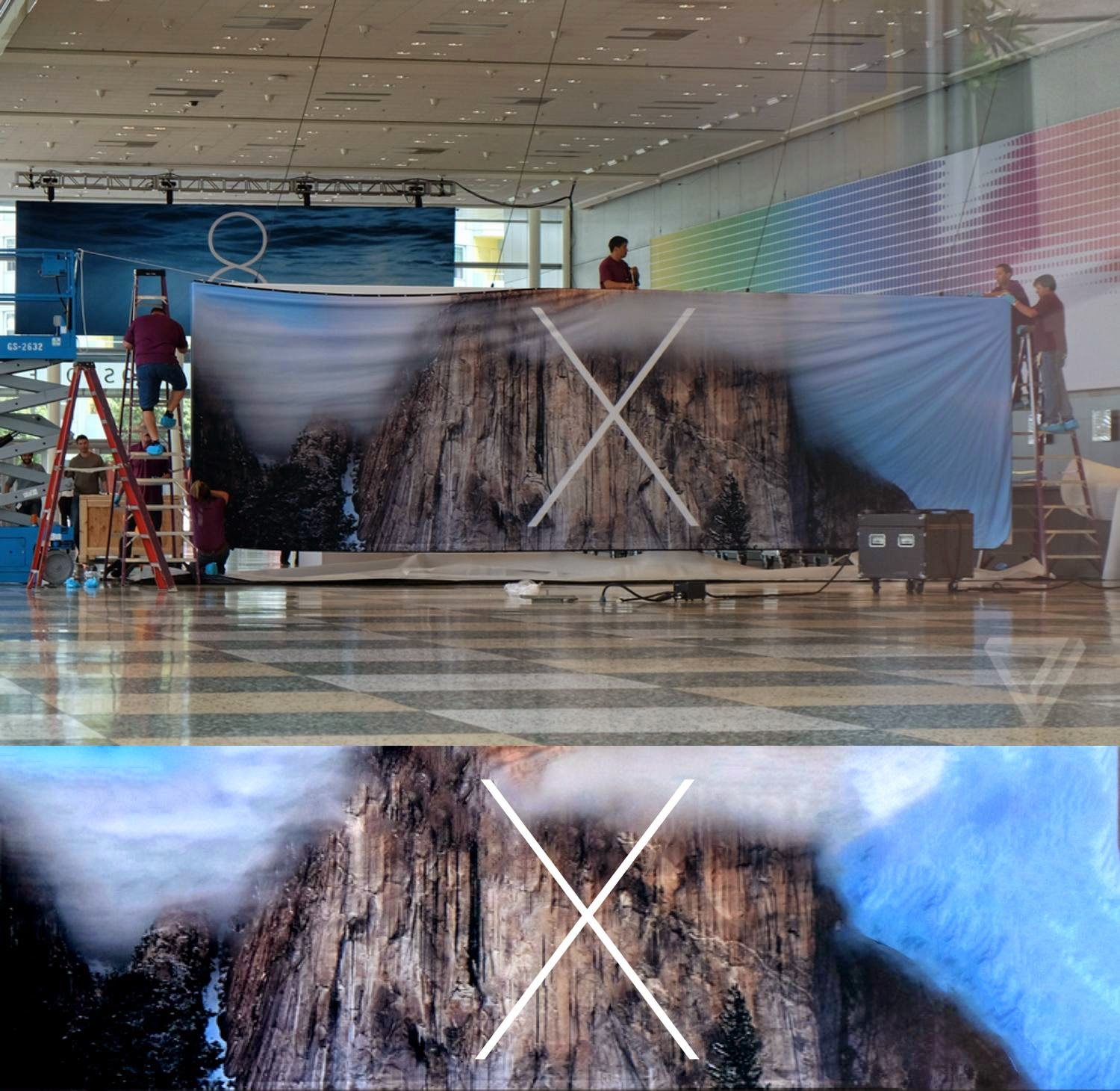 Apple OS X 10.10 Yosemite Logo and Banner Pictures