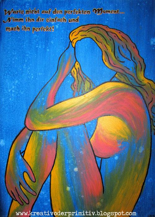 Kreativ oder primitiv akt in acryl - Acrylbilder malen vorlagen ...