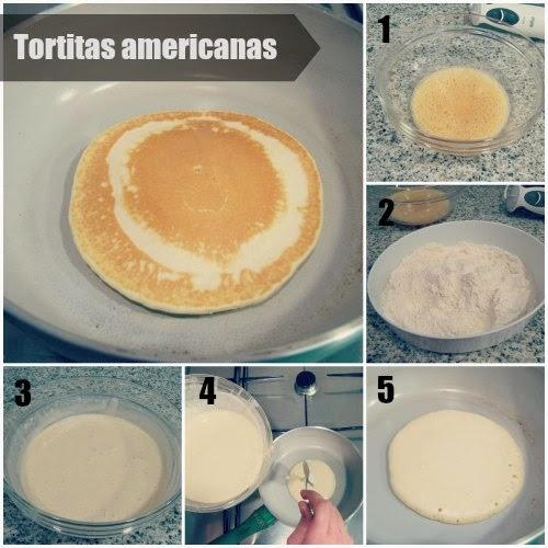 Paso a paso como preparar unas Tortitas Americanas