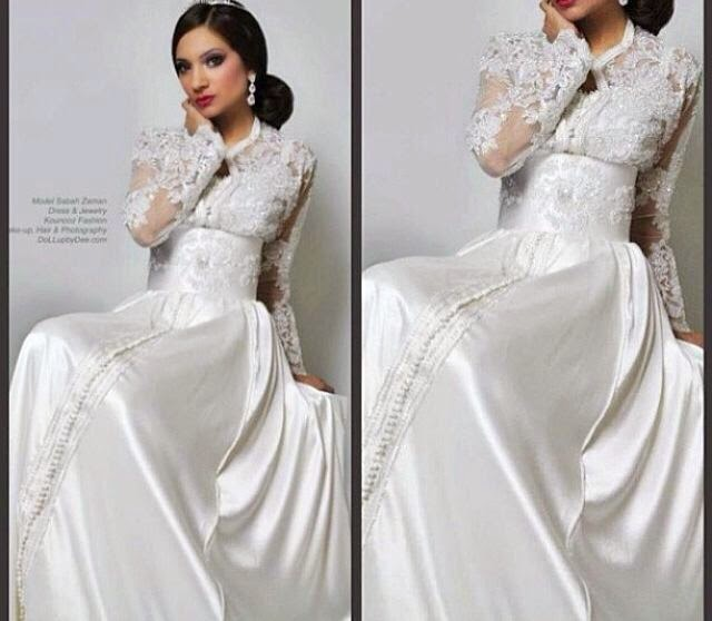caftan mariée blanc luxe
