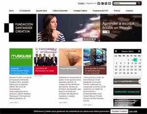 Banner de la página web de la Fundación Santander Creativa