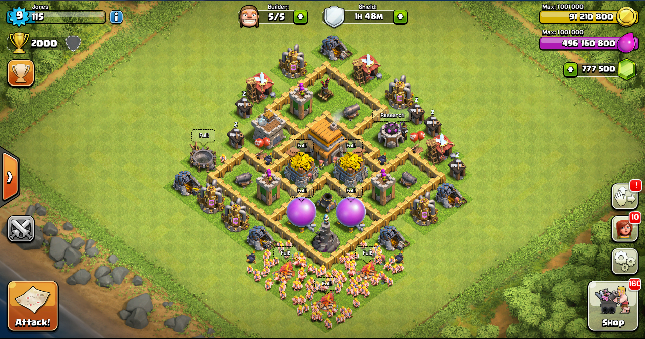 lvl 5 dragons th 10 bases