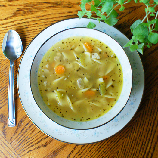 Quick and Easy Homemade Chicken Noodle Soup 