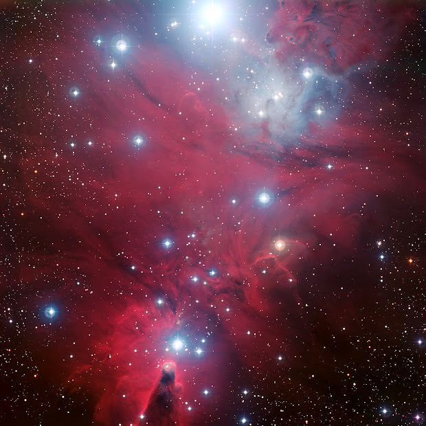NGC 2264 - The Cone Nebula and the Christmas Tree Cluster