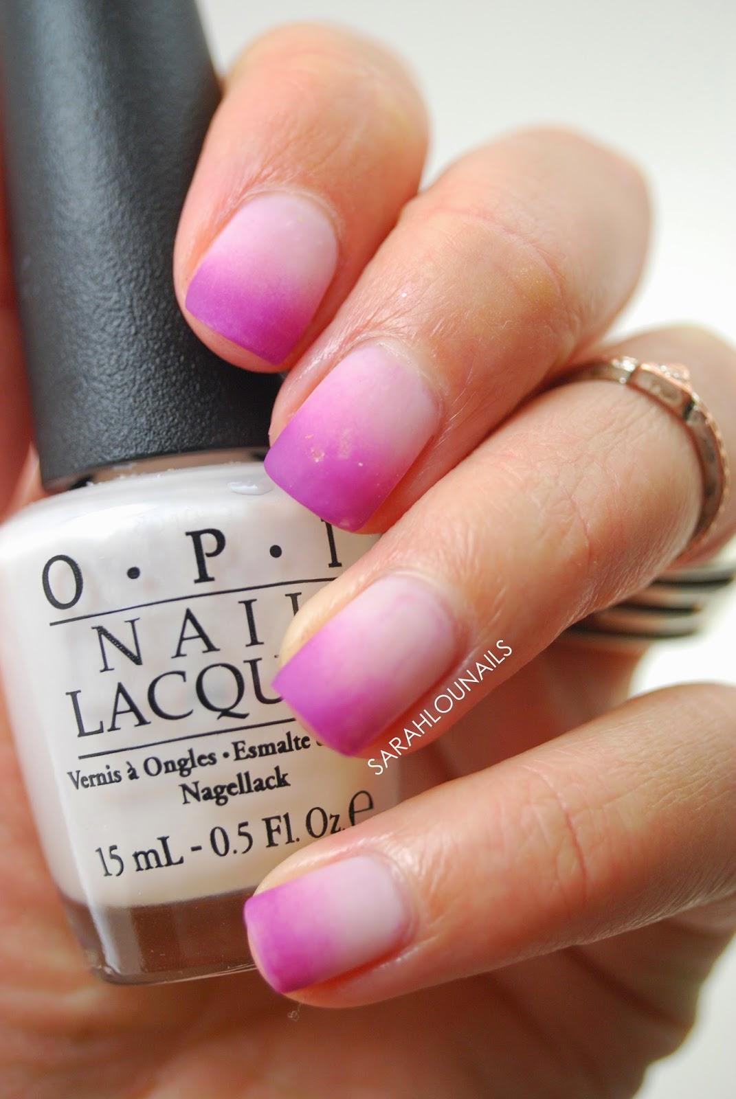 Sarah Lou Nails: Matte Ombre Nails!