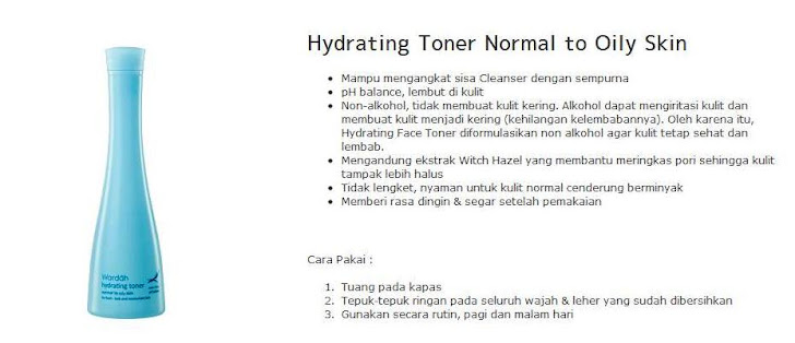 Hydrating Toner Normal to Oily Skin -$10