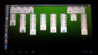 bakers game solitaire on a tablet