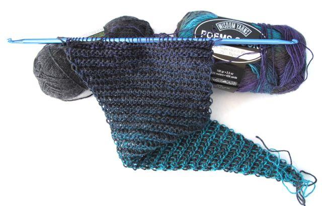 Wind Rose Fiber Studio Reversible Scarf Double Ended Crochet