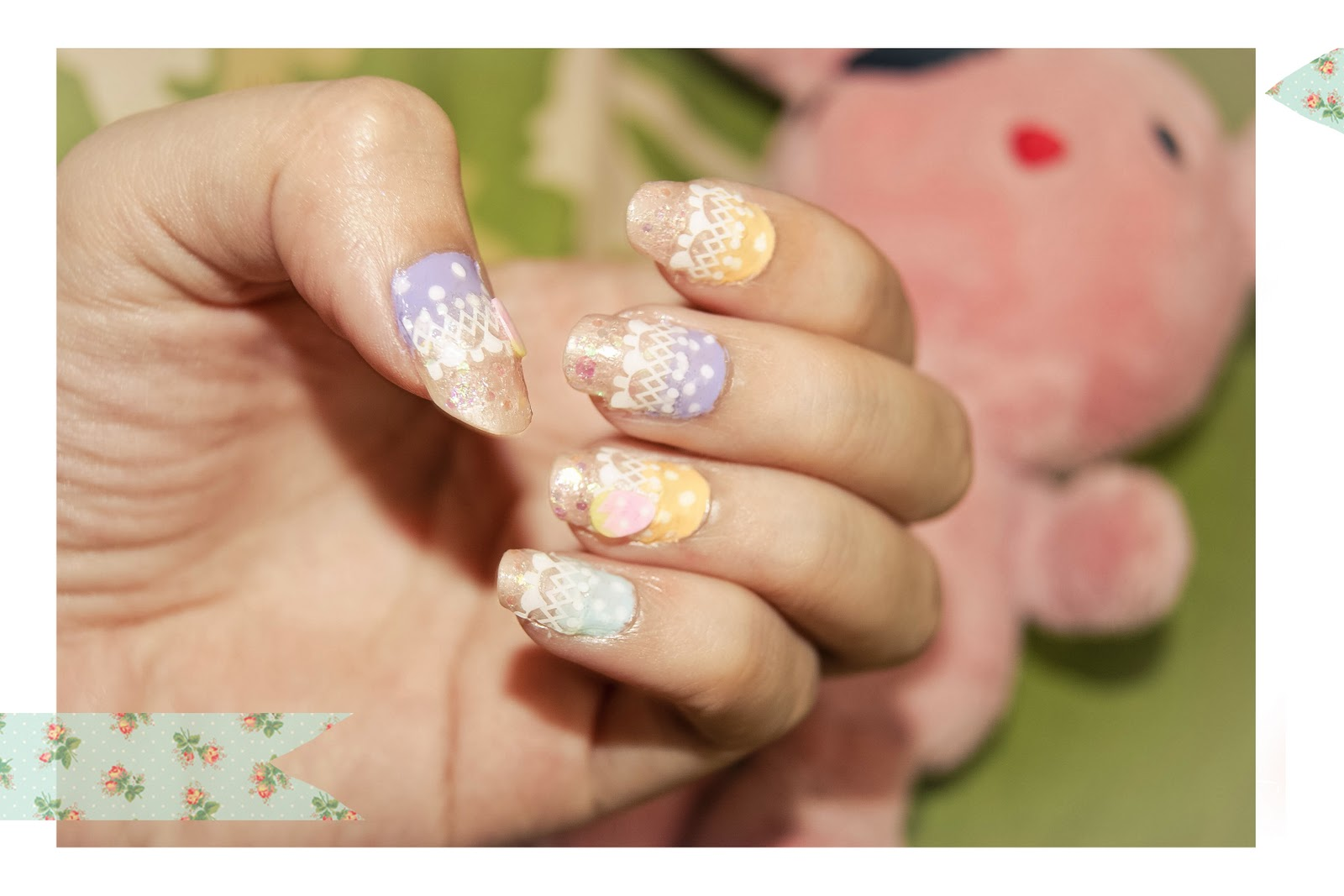Sea Bunny ○: Kawaii Nail Art.