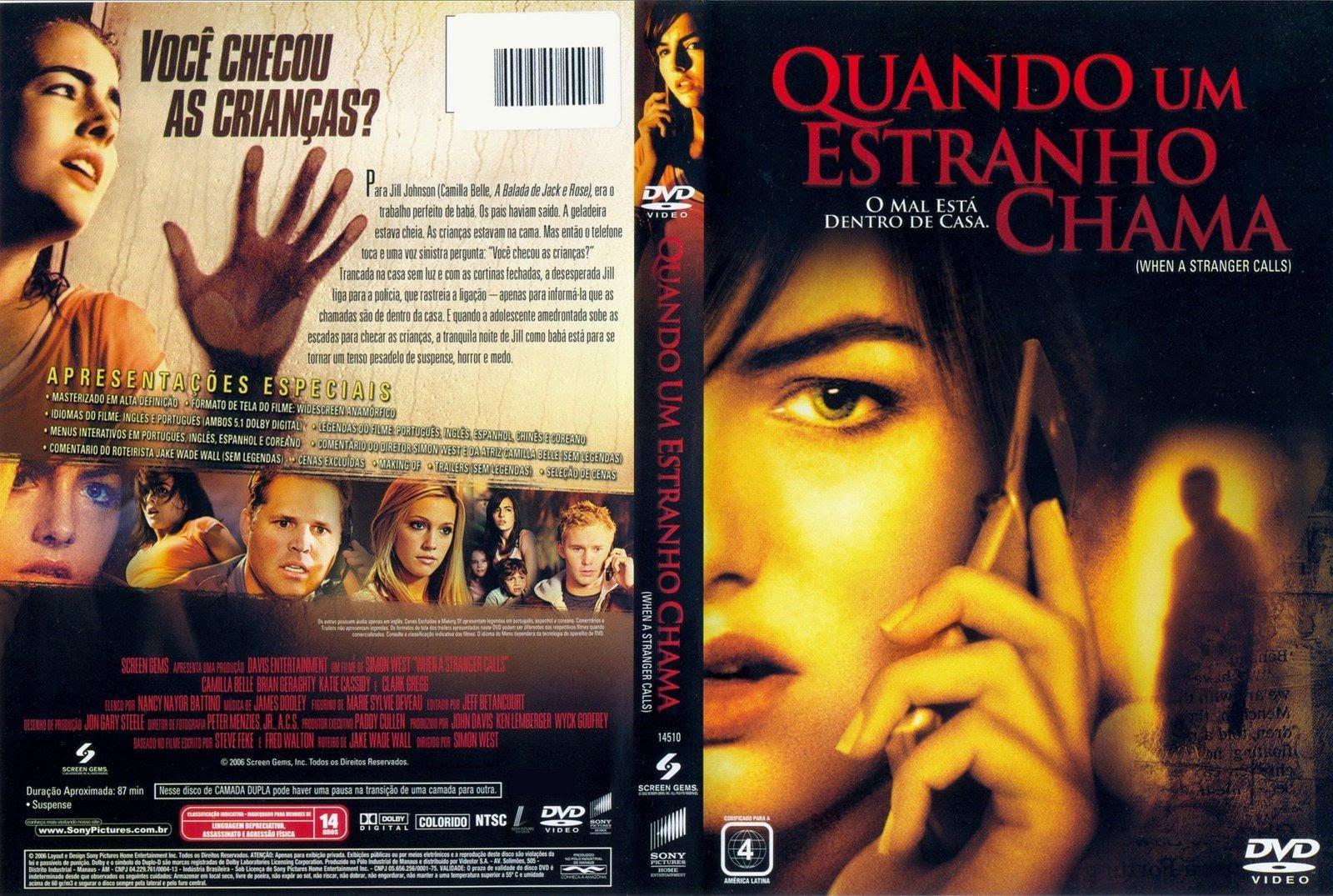 Quando Um Estranho Chama DVD Capa