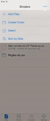 Déplacer document Dropbox 2