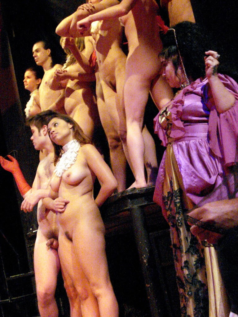 Nude stage performance