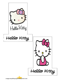 Print and decorate pencils hello kitty