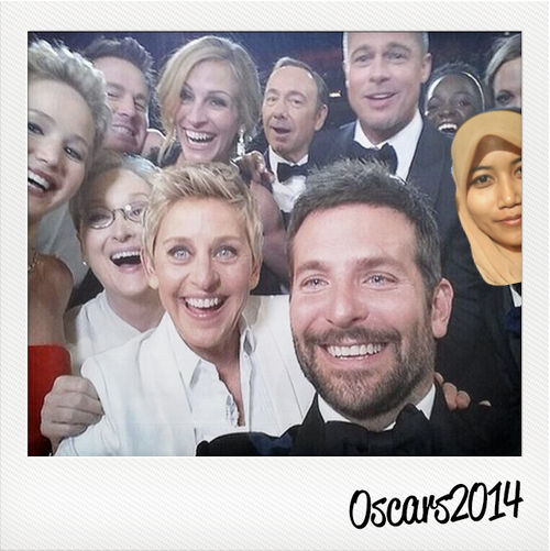 Selfie with Ellen and the gang